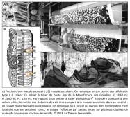 macule sacculaire, cellule de type I, calice, métier à tisser vertical, cellule ciliée, métier des Gobelins, tapisserie, zones, tissage, duites, motifs