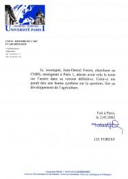 Jean-Daniel_Forest, certificat, Araire, Mesopotamie, Uruk, pied, archeologie, invention, analogie, Philippe Roi, Tristan Girard